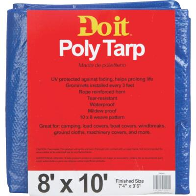 Do it Blue Woven 8 Ft. x 10 Ft. Medium Duty Poly Tarp