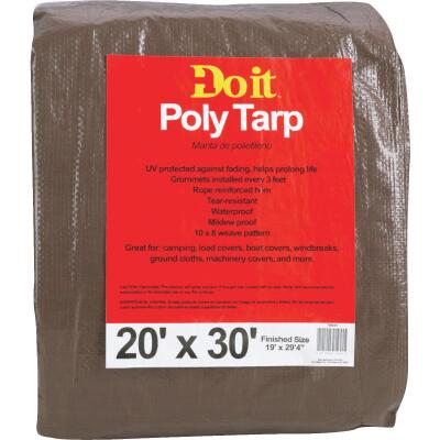 Do it Green/Brown Woven 20 Ft. x 30 Ft. Medium Duty Poly Tarp
