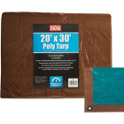 Do it Best 1 Side Green/1 Side Brown Woven 20 Ft. x 30 Ft. Medium Duty Poly Tarp Image 1