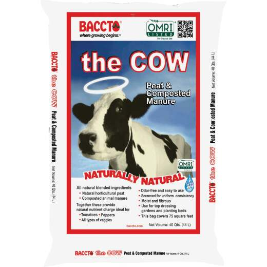 Baccto Wholly Cow 39 Lb. 40 Qt. Compost & Manure