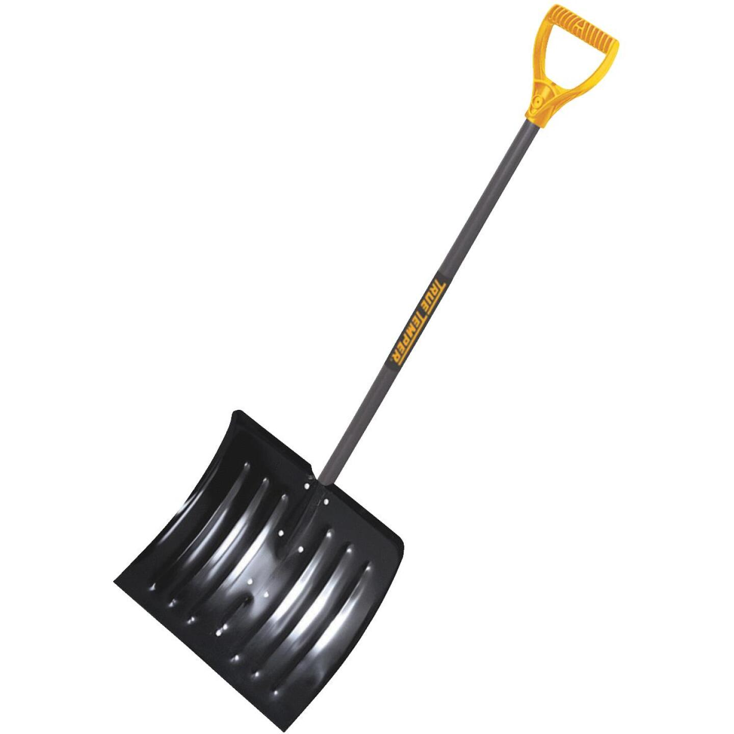 True Temper 18 In. Steel Snow Shovel with 37 In. Wood Handle Image 1