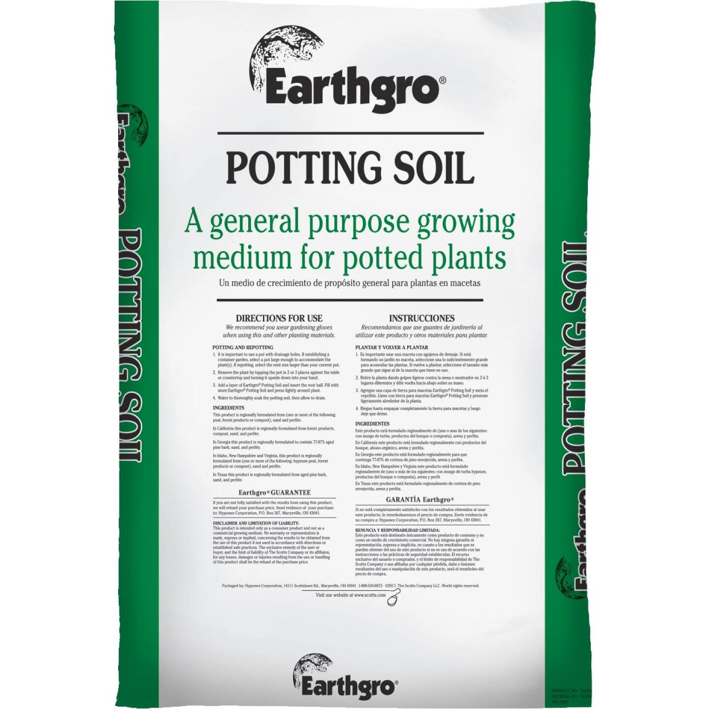 Earthgro 1 Cu. Ft. All Purpose Indoor & Outdoor Potting Soil Image 1