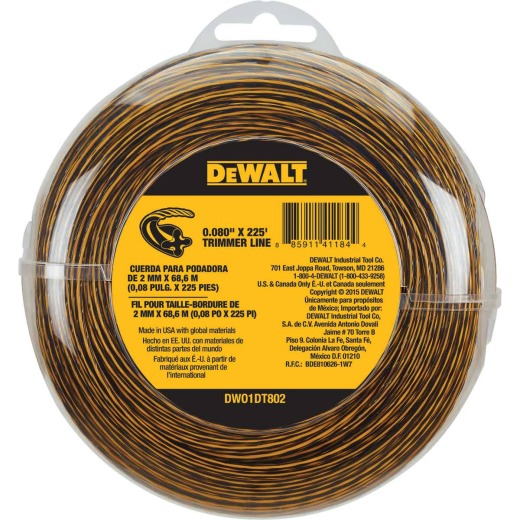 DeWalt 0.080 In.x 225 Ft. Trimmer Line