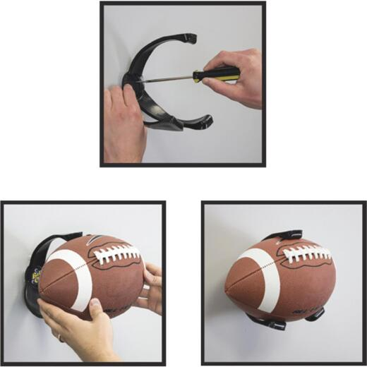 Ball Claw 5-1/4 In. W x 6-3/4 In. H. x 6-3/8 In. D. Football Storage Rack