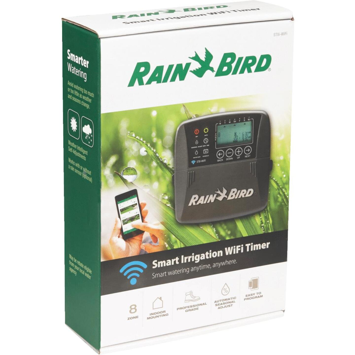 Rain Bird Smart Wi-Fi 8-Station Indoor Plug-In Water Timer Image 2
