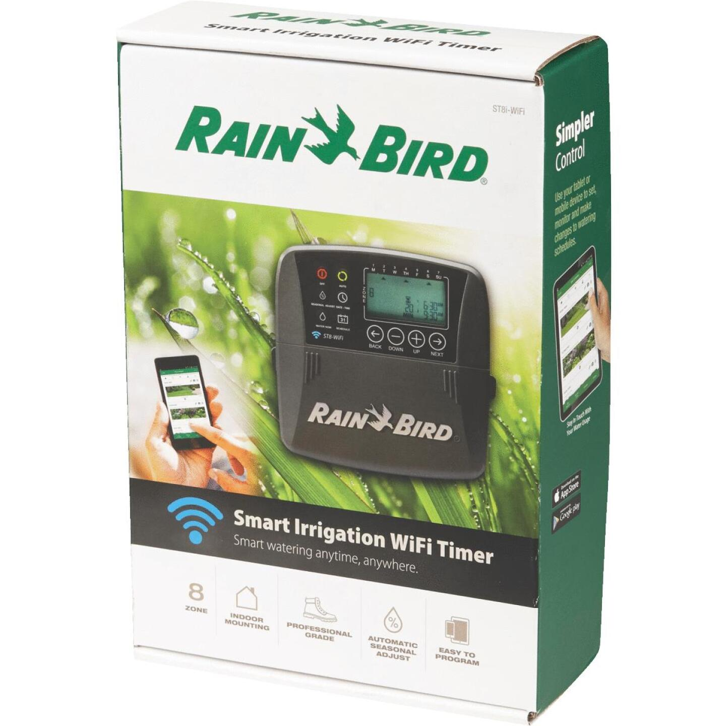 Rain Bird Smart Wi-Fi 8-Station Indoor Plug-In Water Timer Image 3
