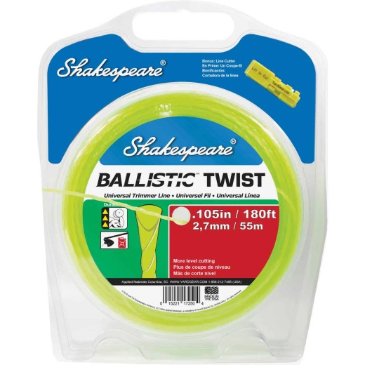 Shakespeare 0.105 In. x 180 Ft. Ballistic Twist Universal Trimmer Line