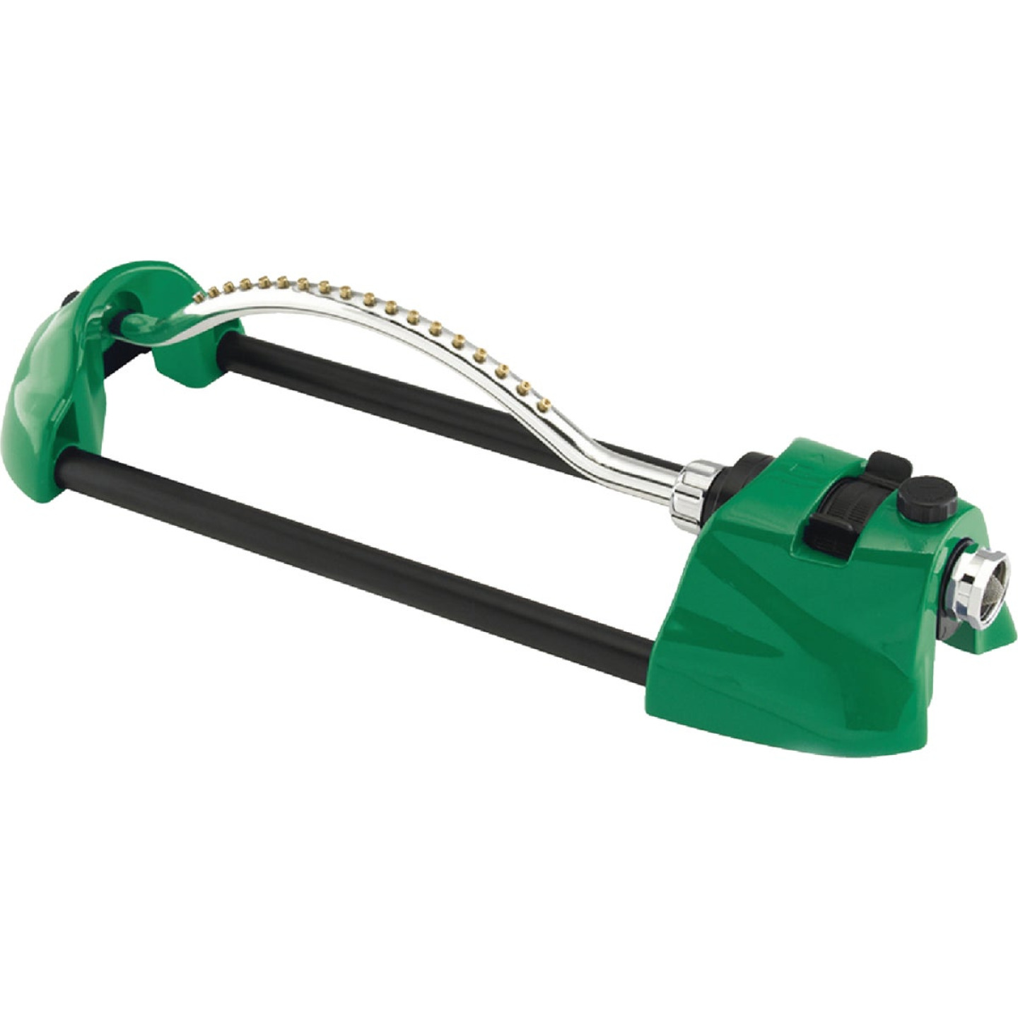 Dramm ColorStorm Heavy-Duty Metal 3000 Sq. Ft. Green Oscillating Sprinkler Image 1