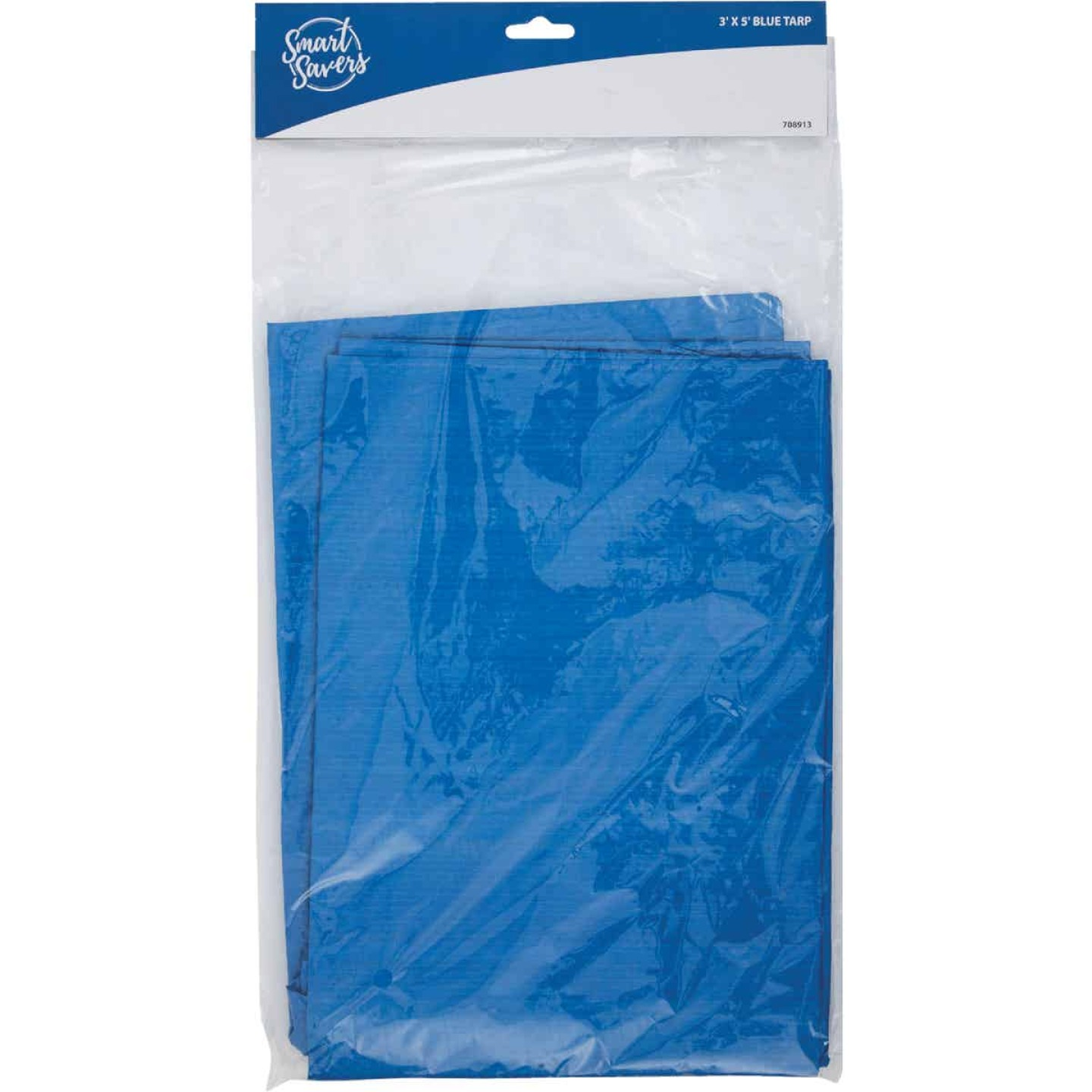 Smart Savers Blue PE 3 Ft. x 5 Ft. Poly Tarp Image 1