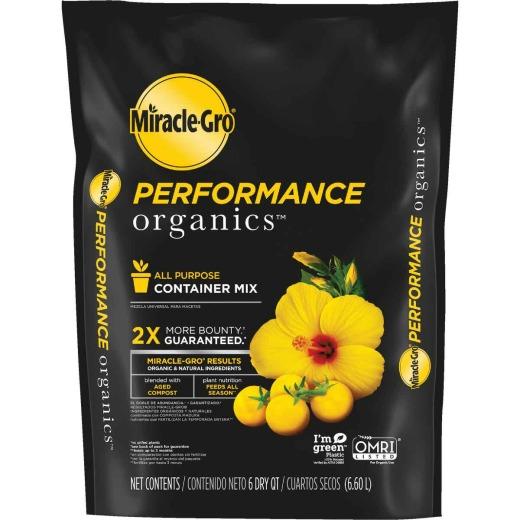 Miracle-Gro Performance Organics 6 Qt. 3 Lb. All Purpose Container Potting Soil