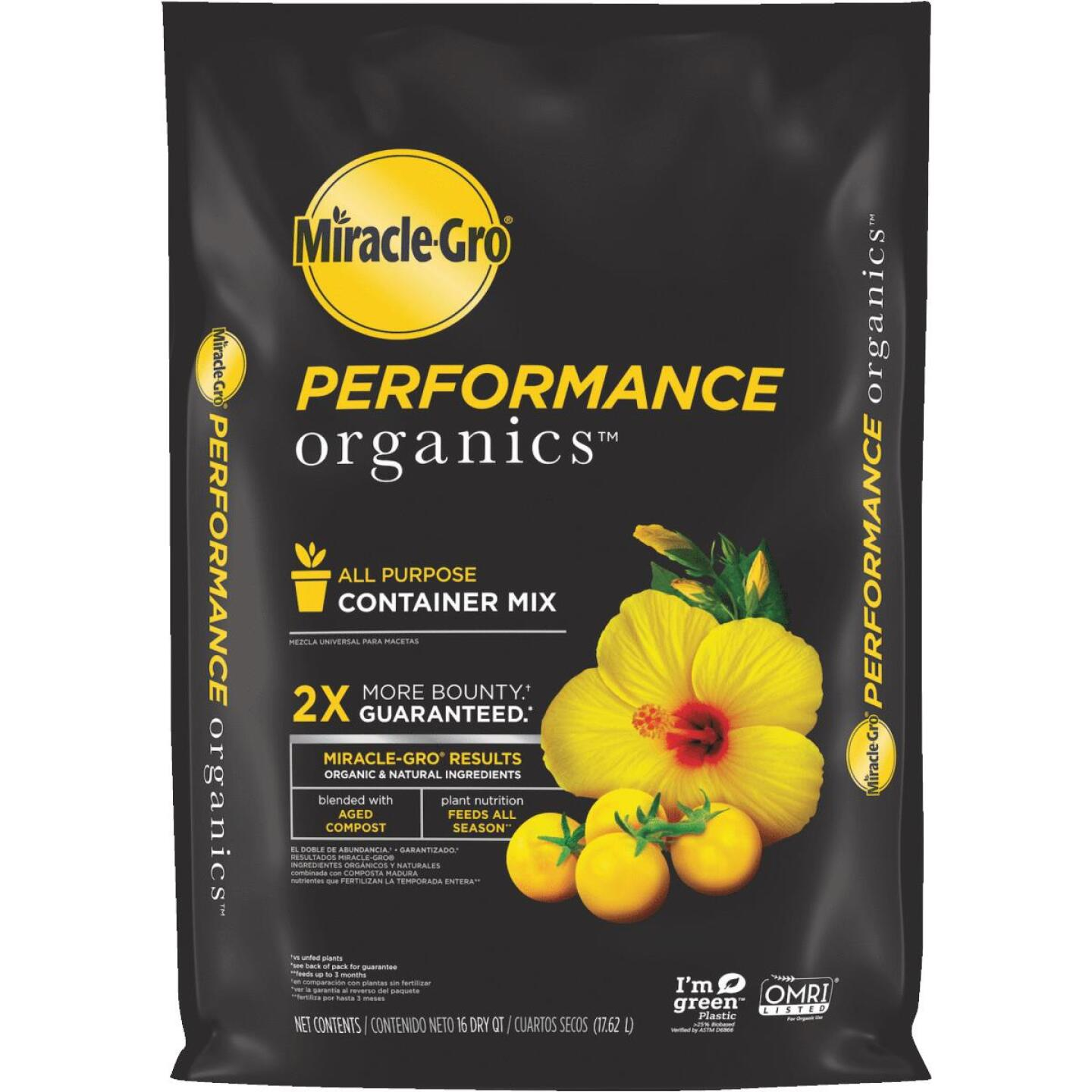 Miracle-Gro Performance Organics 16 Qt. All Purpose Container Mix Image 1