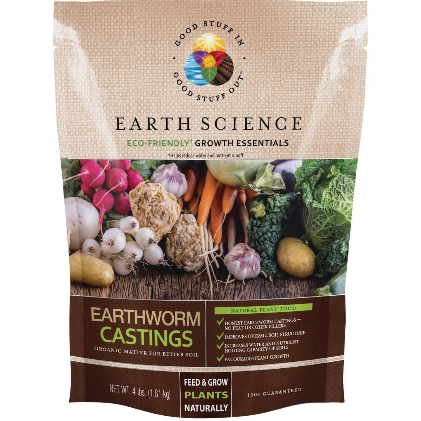 Earth Science 4 Lb. Earth Worm Castings Soil Conditioner Image 1