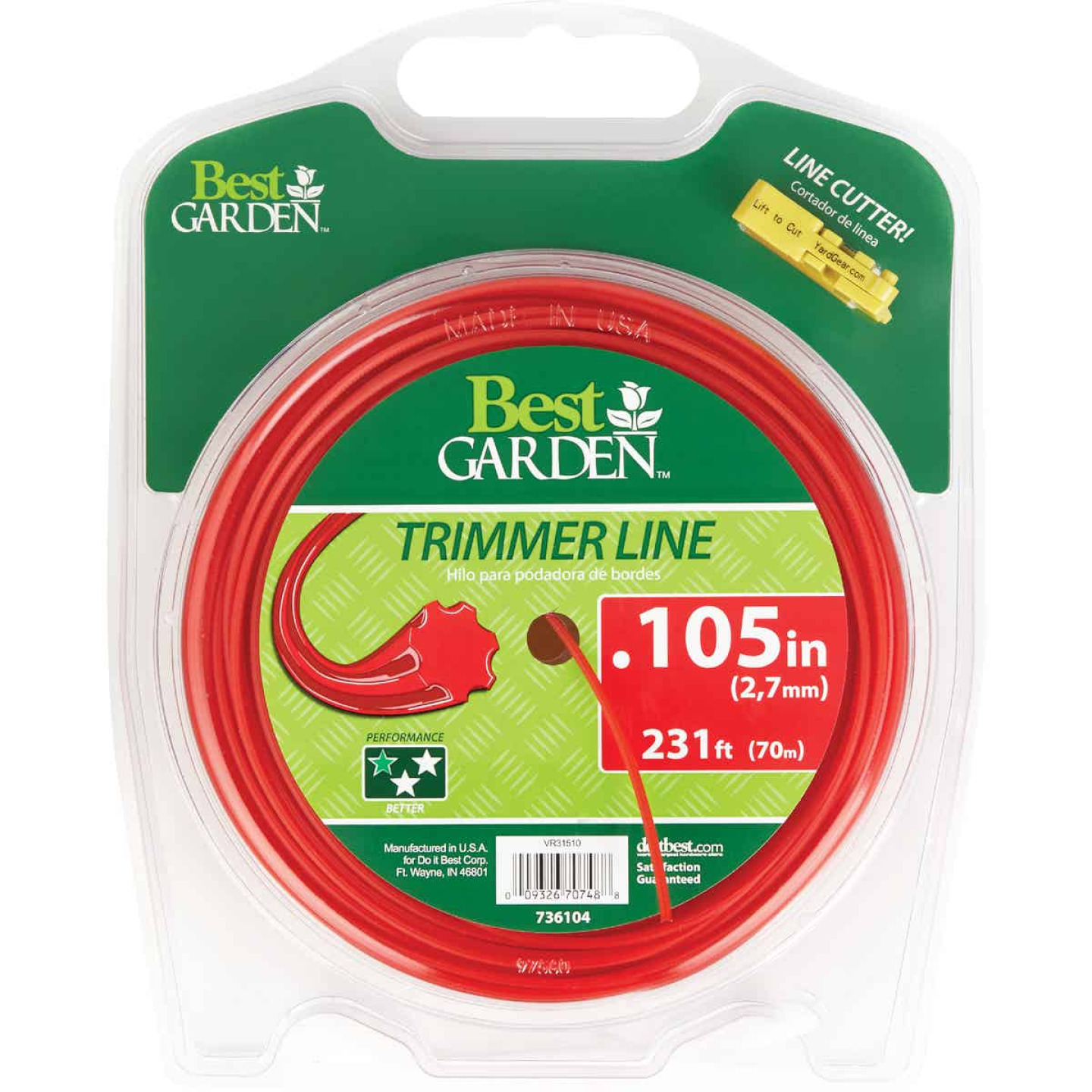 Best Garden 0.105 In. x 231 Ft. 7-Point Trimmer Line Image 1