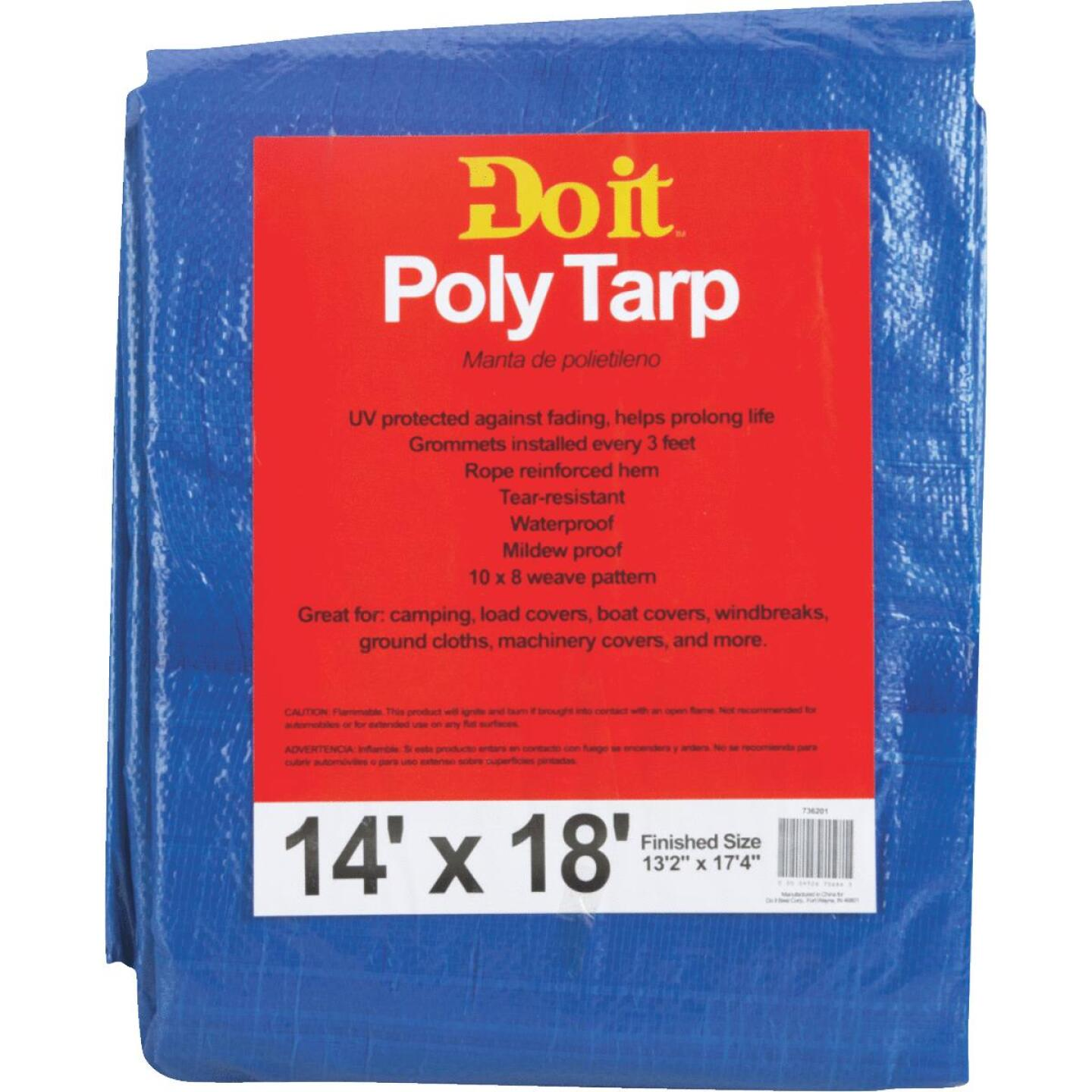 Do it Blue Woven 14 Ft. x 18 Ft. Medium Duty Poly Tarp Image 1