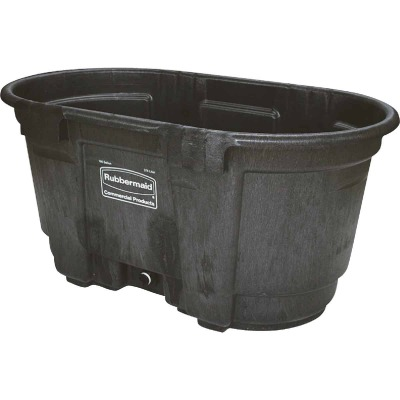 Rubbermaid 100 Gal. Plastic Stock Tank with 1-1/2 In. Drain Plug
