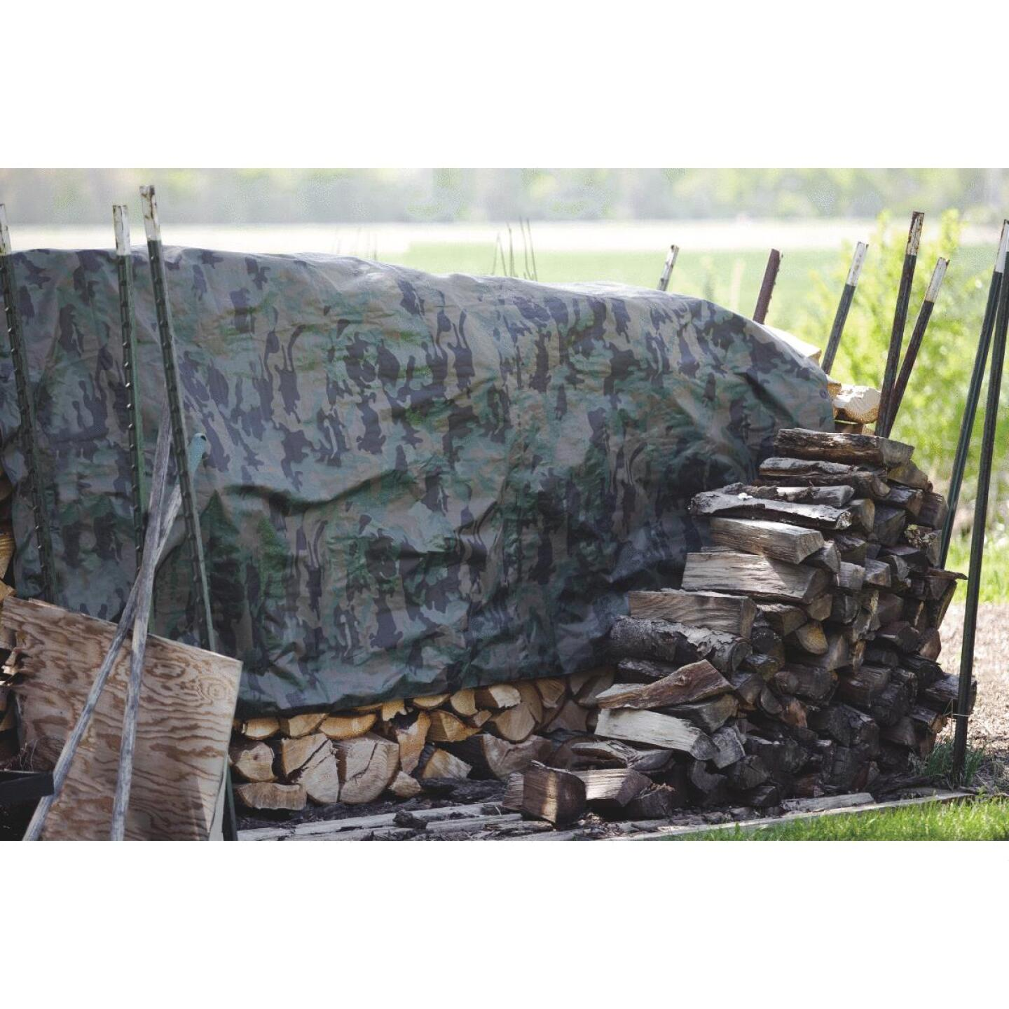 Do it Camo Woven 8 Ft. x 10 Ft. Medium Duty Poly Tarp Image 4