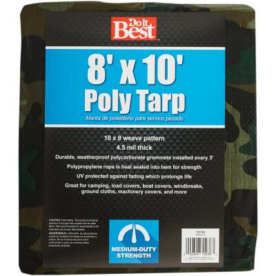 Do it Best Camo Woven 8 Ft. x 10 Ft. Medium Duty Poly Tarp
