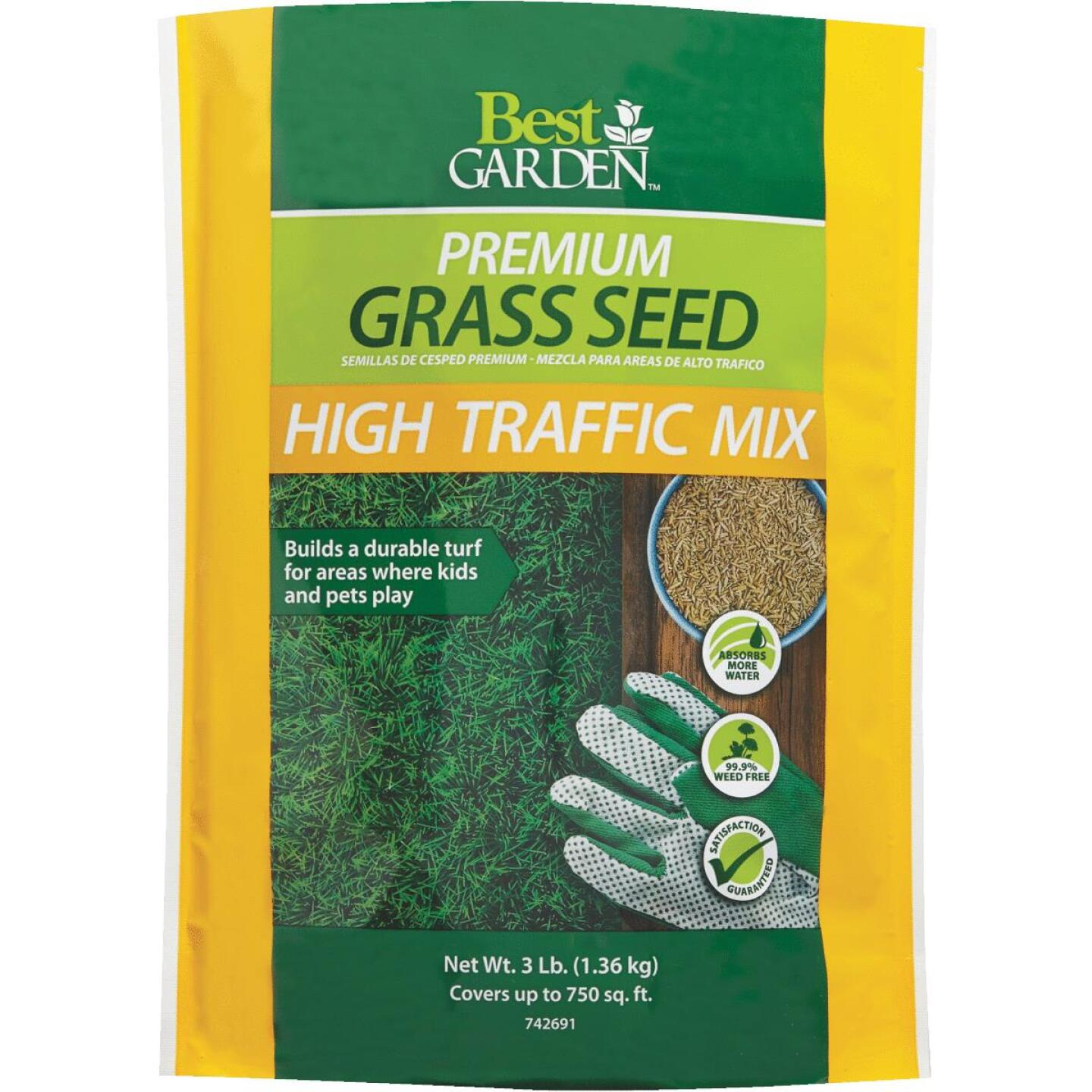 Best Garden 3 Lb. 900 Sq. Ft. Coverage High Traffic Grass Seed Image 1