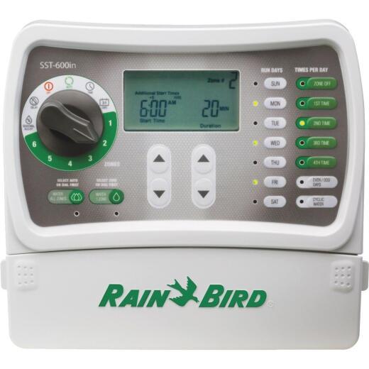 Rain Bird Simple Set 6-Station Indoor Plug-In Irrigation Sprinkler Timer