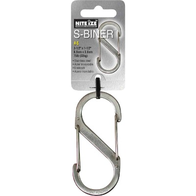 Nite Ize S-Biner Size 3 25 Lb. Capacity Stainless Steel S-Clip Key Ring