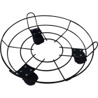 Best Garden 13 In. Coated Metal Wire Rolling Plant Caddy Image 1