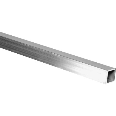 HILLMAN Steelworks 1 In. x 4 Ft. x 1/16 In. Aluminum Square Tube
