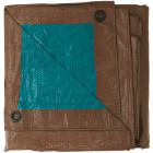 Do it Best 1 Side Green/1 Side Brown Woven 12 Ft. x 14 Ft. Medium Duty Poly Tarp Image 3