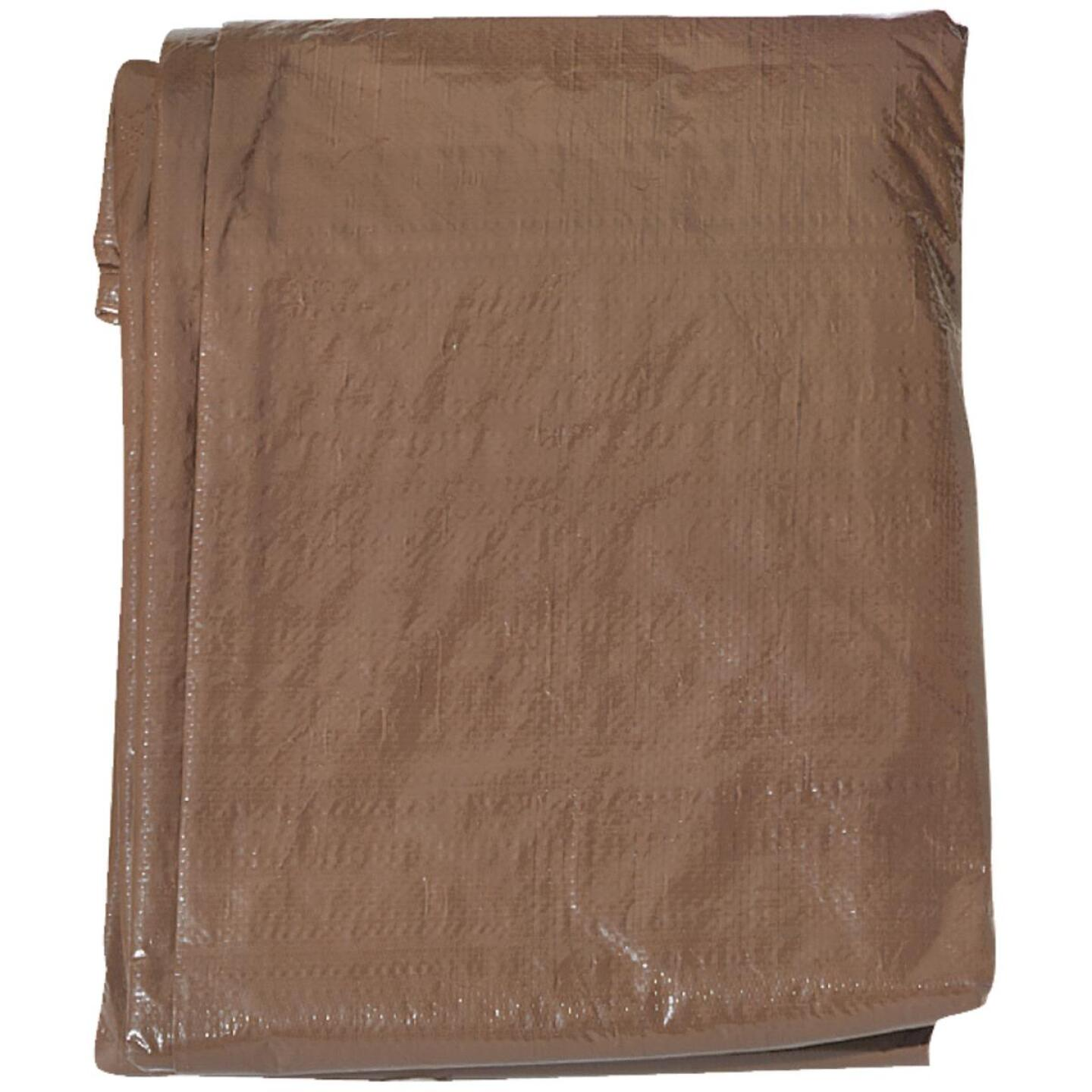 Do it Green/Brown Woven 16 Ft. x 20 Ft. Medium Duty Poly Tarp Image 2