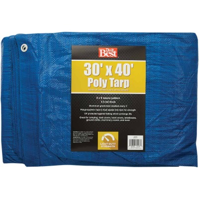 Do it Best Blue Woven 30 Ft. x 40 Ft. General Purpose Tarp