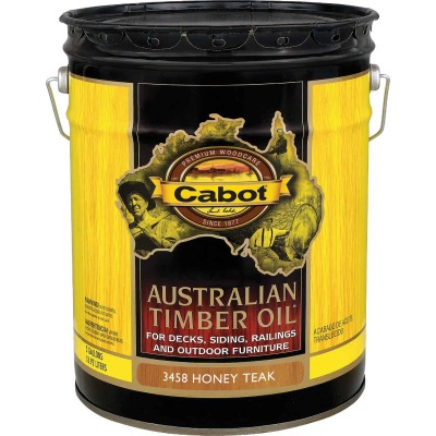 Cabot Australian Timber Oil Translucent Exterior Oil Finish, Honey Teak, 5 Gal.