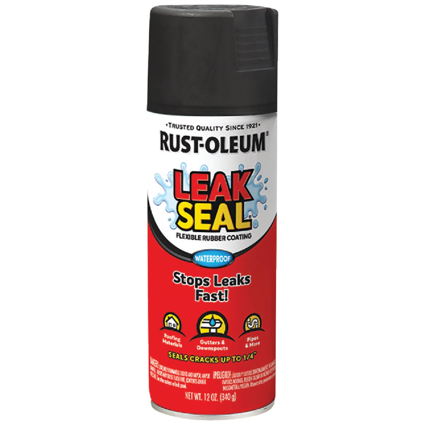 Rust-Oleum LeakSeal 12 Oz. Flexible Rubber Coating, Black Image 1