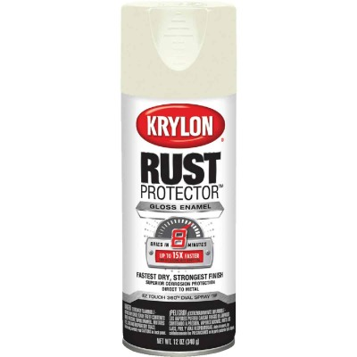 Krylon Rust Protector 12 Oz. Gloss Alkyd Enamel Spray Paint, Ivory
