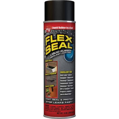 FLEX SEAL 14 Oz. Spray Rubber Sealant, Black