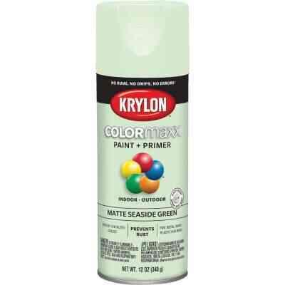 Krylon ColorMaxx 12 Oz. Matte Paint + Primer Spray Paint, Seaside Green