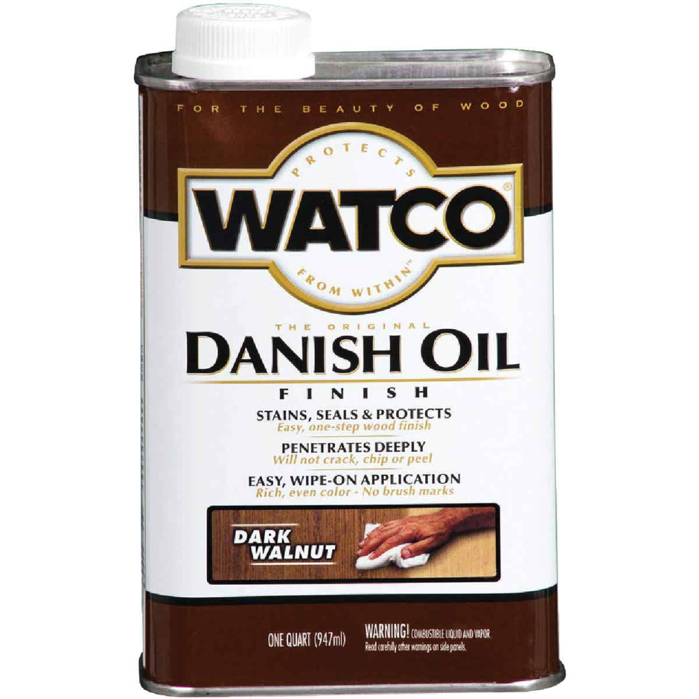 Watco Danish 1 Qt. Low VOC Dark Walnut Oil Finish Image 1
