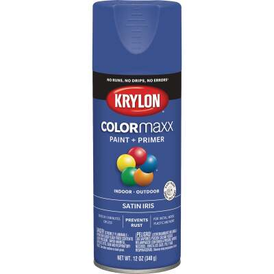 Krylon Colormaxx Satin Spray Paint & Primer, Iris