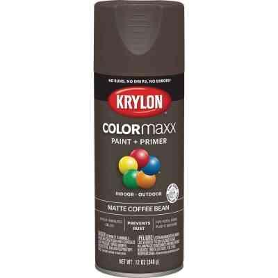 Krylon Colormaxx Matte Spray Paint & Primer, Coffee Bean