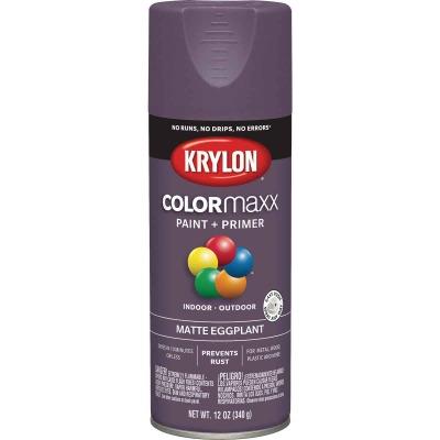 Krylon Colormaxx Matte Spray Paint & Primer, Eggplant