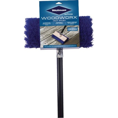 Wolman Wood Worx Deck Brush with 5 Ft. Handle