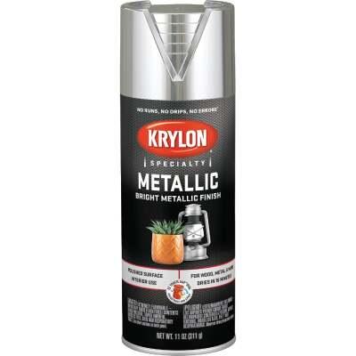 Krylon Metallic 11 Oz. Gloss Spray Paint, Bright Silver