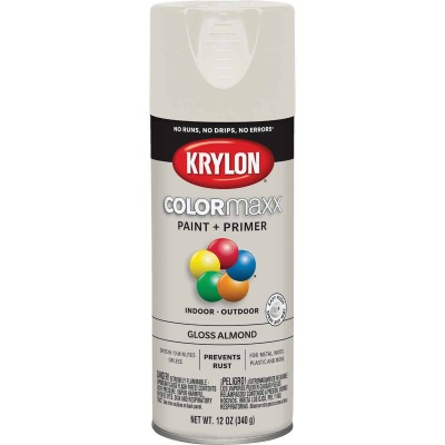 Krylon ColorMaxx 12 Oz. Gloss Spray Paint, Almond