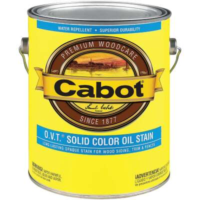 Cabot O.V.T. VOC Compliant Solid Color Exterior Stain, Neutral Base, 1 Gal.