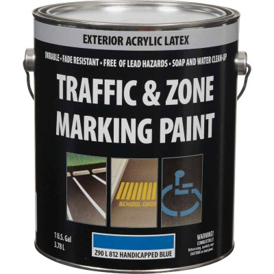 Traffic And Zone Handicap Blue Latex Gallon Traffic Paint