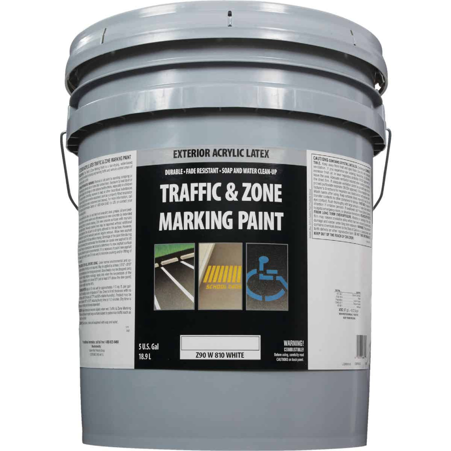 Traffic And Zone White Latex 5 Gal Traffic Paint Image 2