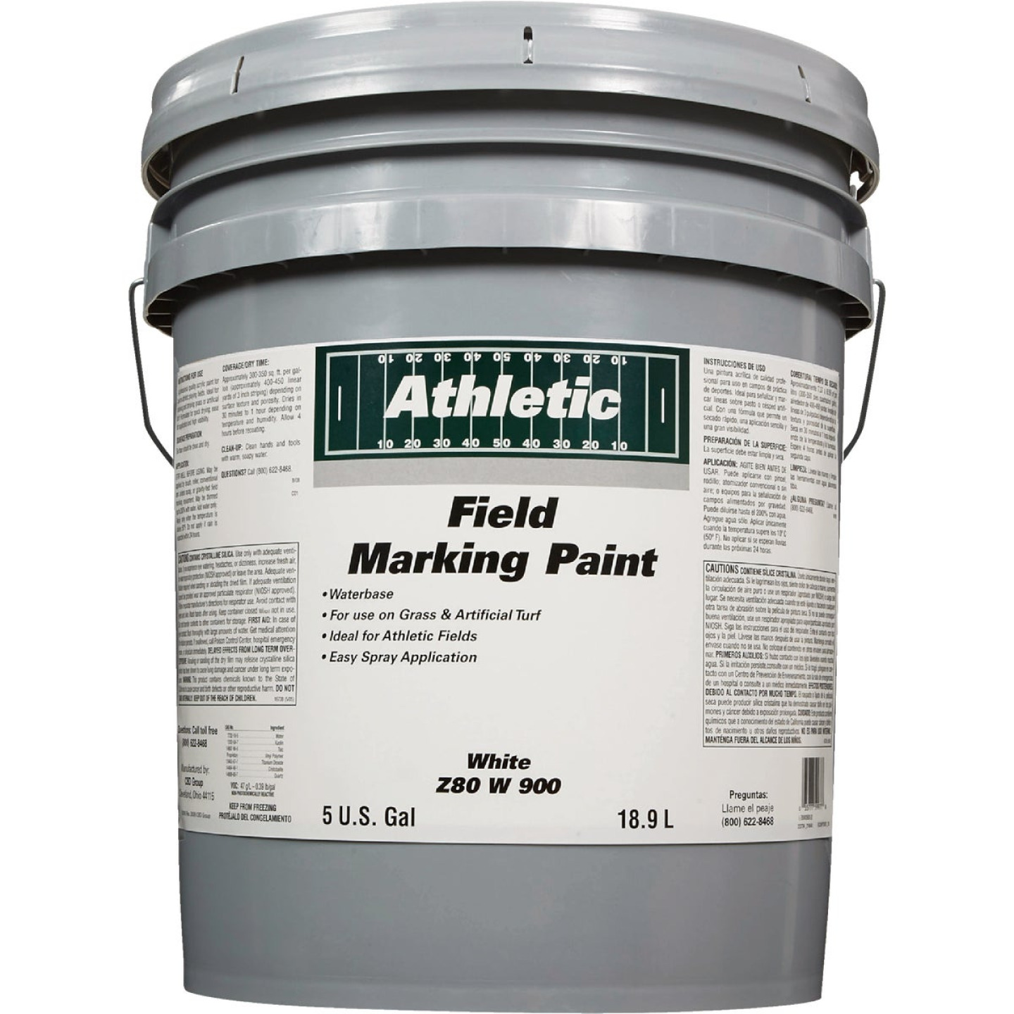 Field Marking Paint White 5 Gal Acrylic Flat Field Marking Paint Image 2