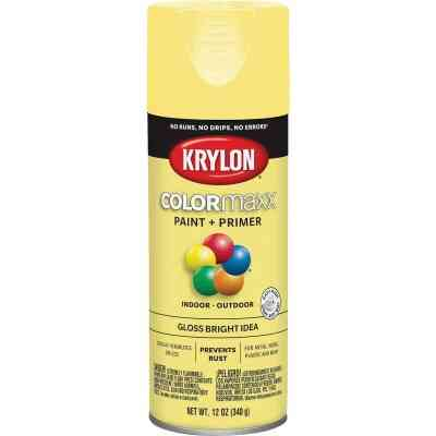 Krylon ColorMaxx 12 Oz. Gloss Spray Paint, Bright Idea