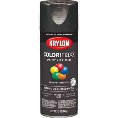 Krylon ColorMaxx 11 Oz. Brushed Metallic Satin Spray Paint, Oil Rubbed Bronze