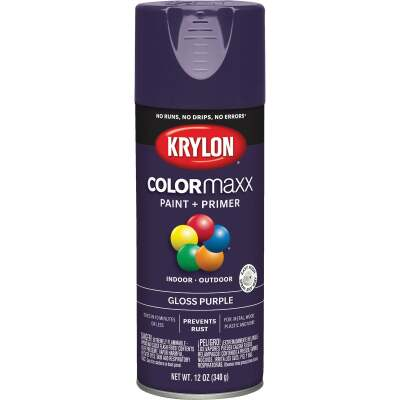 Krylon ColorMaxx 12 Oz. Gloss Spray Paint, Purple