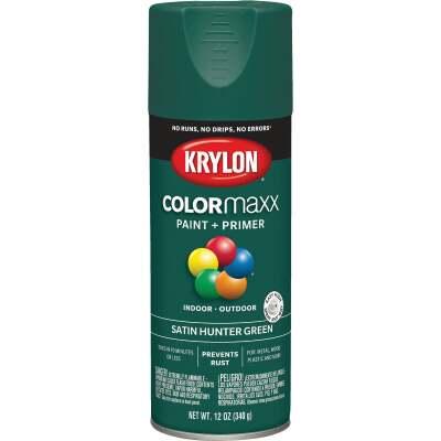 Krylon ColorMaxx 12 Oz. Satin Spray Paint, Hunter Green
