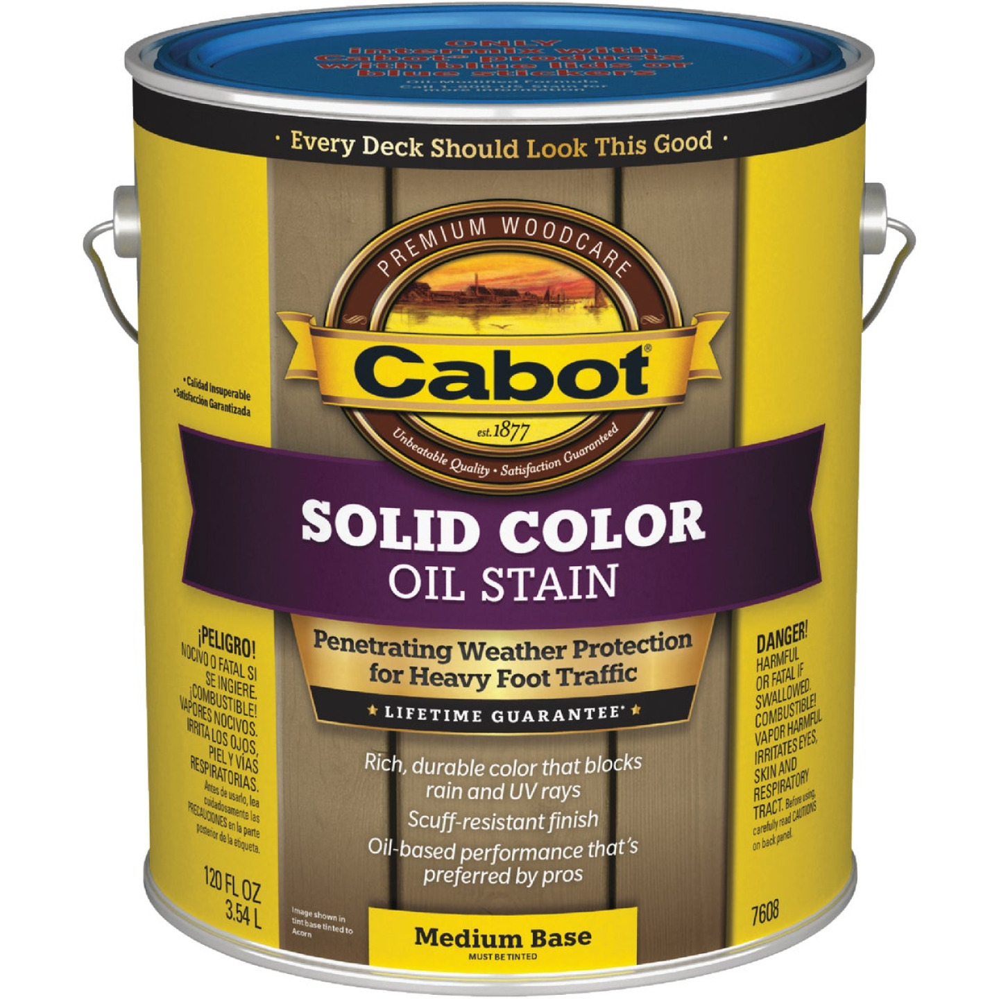 Cabot VOC Solid Color Oil Deck Stain, Medium Base, 1 Gal. Image 1